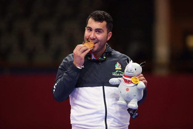 گنج زاده تنها طلای ایران را کسب کرد، پایان کار ایران با 5 مدال