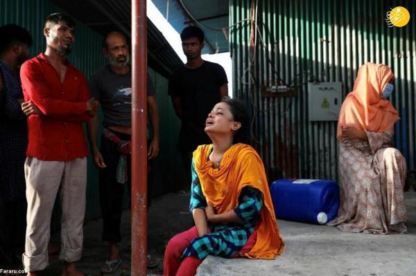 (تصاویر) آتش سوزی مرگبار کارخانه ای در بنگلادش